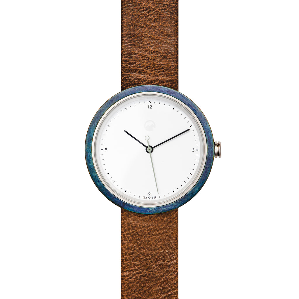 wrist watches watch dial quartz men s white mens leather movement strap brown product