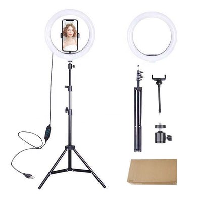 AlphaMax 10inch Photography Studio LED Beauty Fill Light Ring Light for Phones - YouTube- Blogging - Makeup