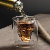 Skull Whiskey Glass / Double Shot Glass 75ML