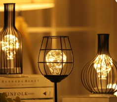 Vintage Styled Wine Lamps