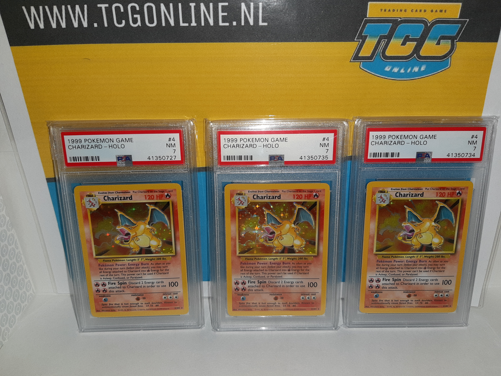 [3x] Charizard Base Set - PSA 7