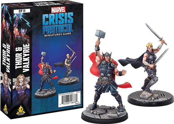 Marvel Crisis Protocol Thor and Valkyrie Character - TCG Online.