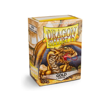 Dragon Shield MATTE - Standard - Gold (100 stuks) - TCG Online