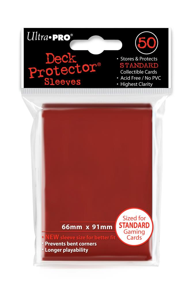 SLEEVES Red (50 stuks) - TCG Online