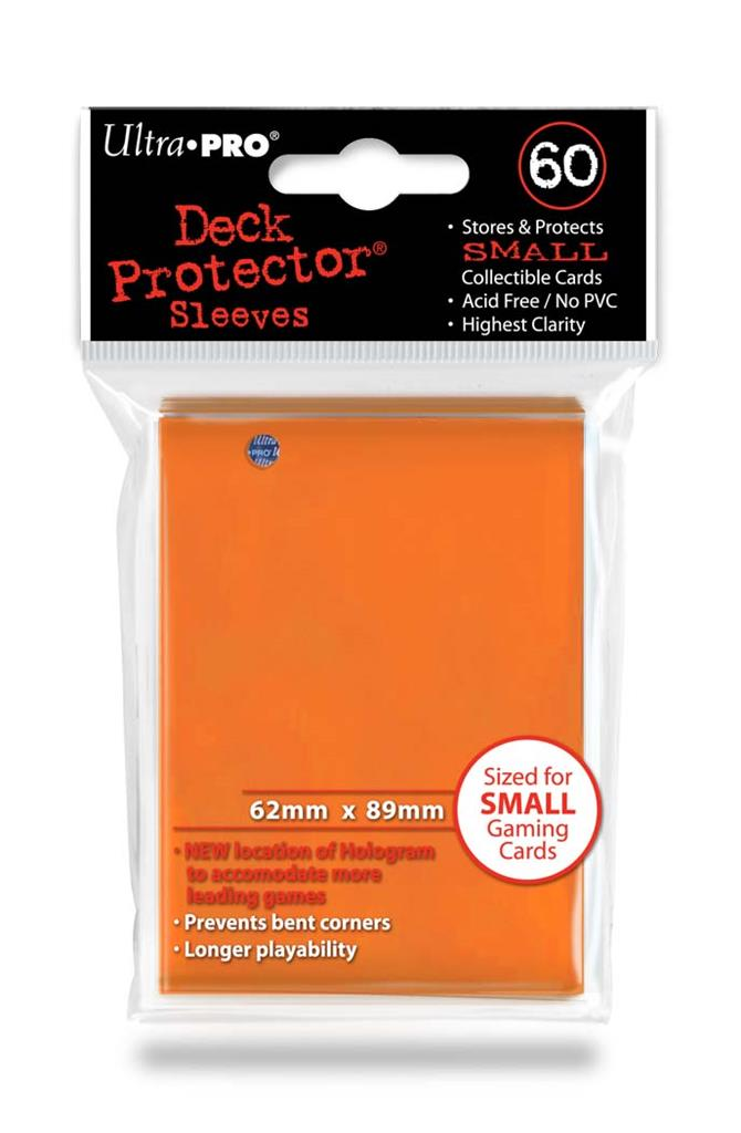 SLEEVES Small Orange  (60 stuks) - TCG Online