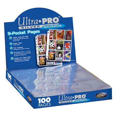 Ultra Pro Hologram Pages Silver 9-Pocket 11 hole (100) - TCG Online