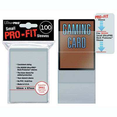 SLEEVES Pro-Fit Clear Small (100 stuks) - TCG Online