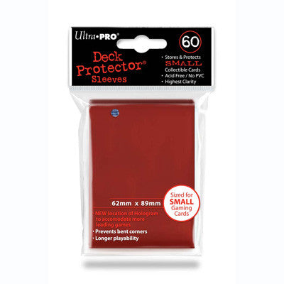 SLEEVES SMALL Red (60 stuks) - TCG Online