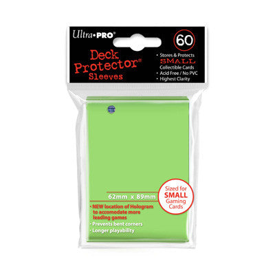 SLEEVES SMALL Lime Green (60 stuks) - TCG Online