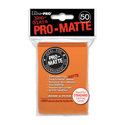 SLEEVES Pro-Matte Orange  (50 stuks) - TCG Online