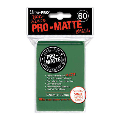 SLEEVES Pro-Matte Green Small (60 stuks) - TCG Online