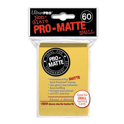SLEEVES Pro-Matte Yellow Small (60 stuks) - TCG Online