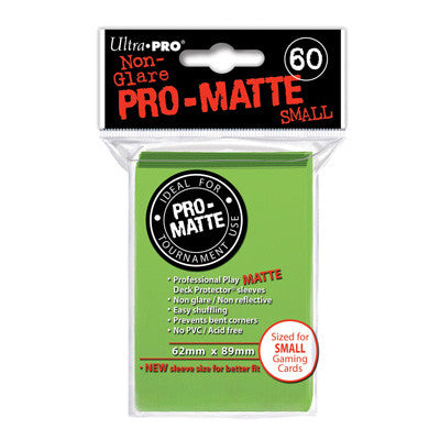 SLEEVES Pro-Matte Lime Green Small (60 stuks) - TCG Online