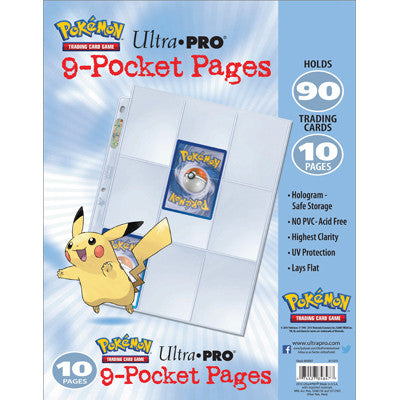 UltraPro Hologram Pages 9-Pocket 3hole 10 Pages - TCG Online