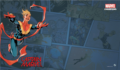Marvel LCG Captain Marvel Playmat - TCG Online