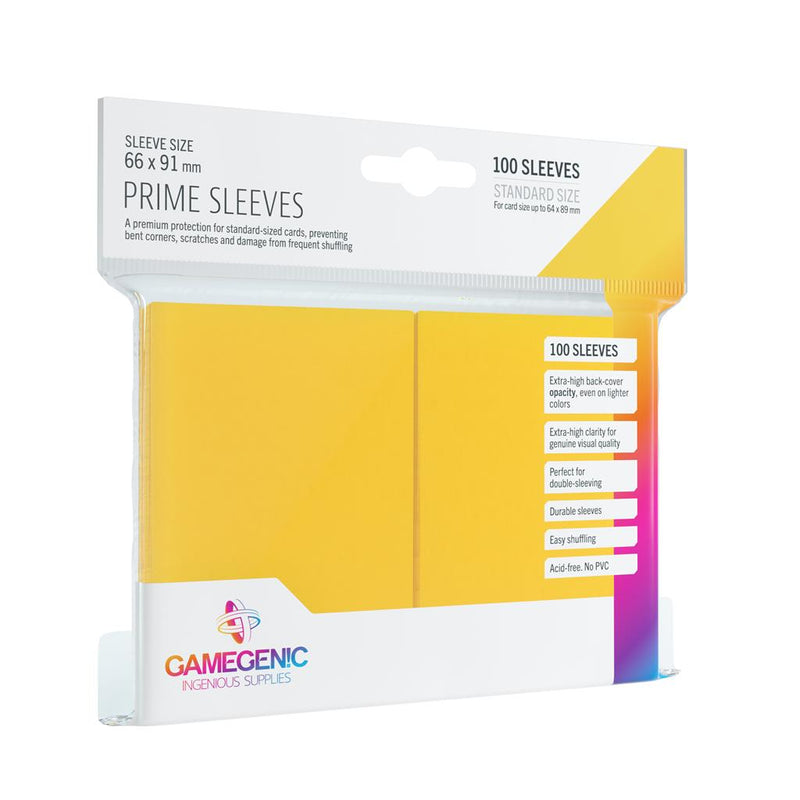 GameGenic SLEEVES Pack Prime Yellow (100) - TCG Online.