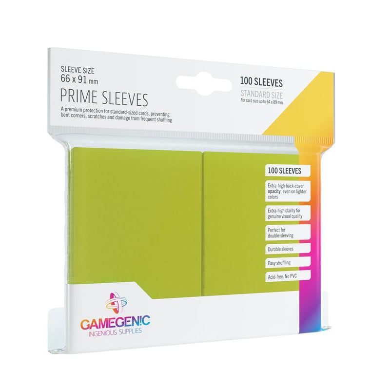 GameGenic SLEEVES Pack Prime Lime (100)