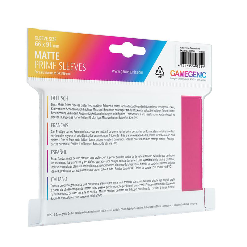 GameGenic SLEEVES Pack Matte Prime Pink (100) - TCG Online.