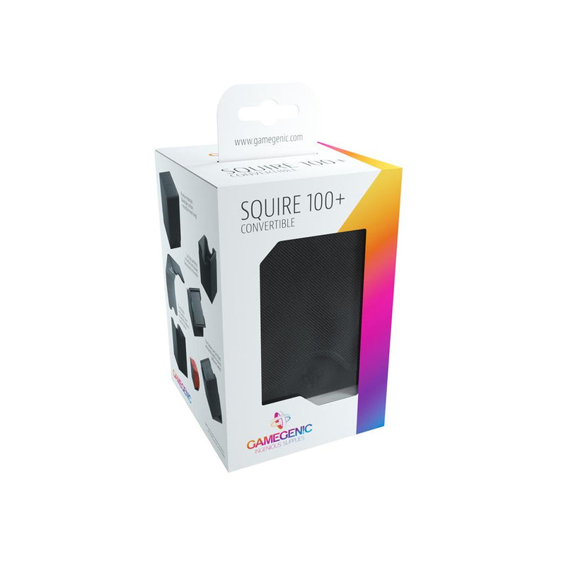 GameGenic DECKBOX Squire 100+ Convertible Black - TCG Online.
