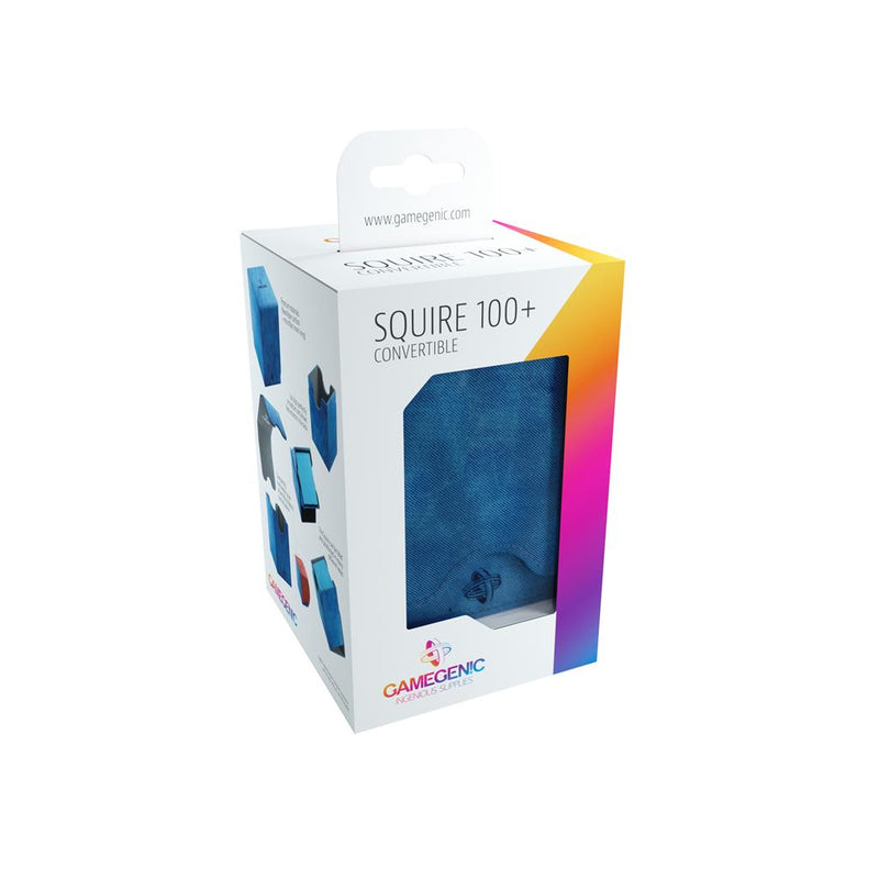 GameGenic DECKBOX Squire 100+ Convertible Blue - TCG Online.