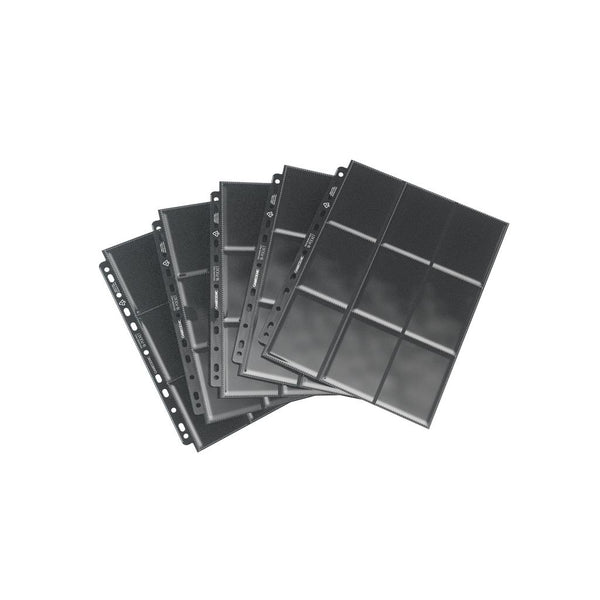 GameGenic Sideloading 18-Pocket Pages Pack Black (10) - TCG Online