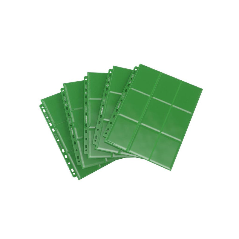GameGenic Sideloading 18-Pocket Pages Display Green (50) - TCG Online