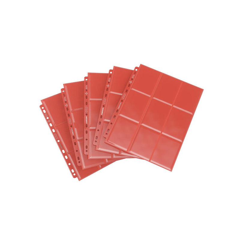 GameGenic Sideloading 18-Pocket Pages Pack Red (10) - TCG Online