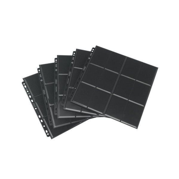 GameGenic Sideloading 24-Pocket Pages Pack Black (10) - TCG Online