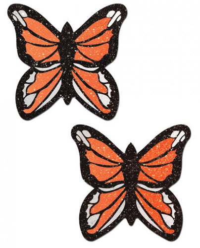Orange Glitter Butterflies