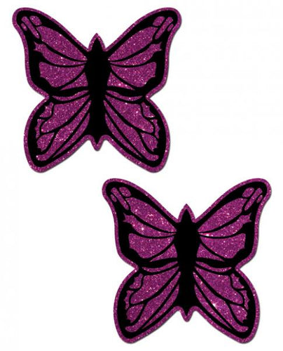 Purple Glitter Butterflies