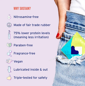 Sustain Ultra-Thin Latex Condoms