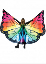 Rainbow Butterfly Wings Halter Cape