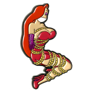 Kinky Jessica Rabbit BDSM Enamel Pin by Geeky & Kinky Pins