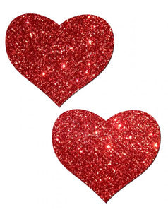 Red Heart Glitter Pasties