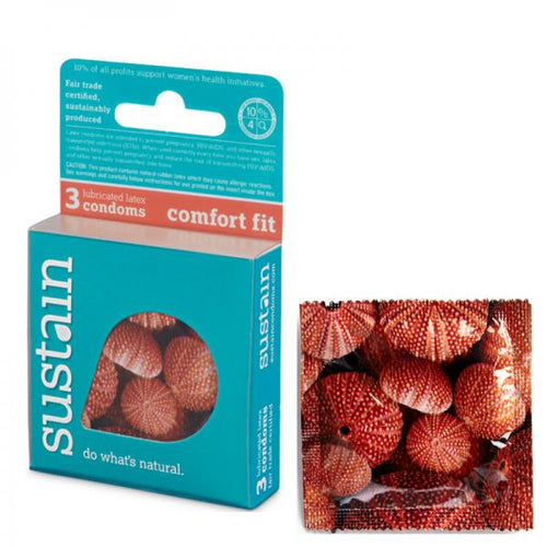 Sustain Comfort Fit All-Natural Latex Condoms (3 pack)