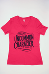 T-Shirt - Women's Red, V-neck