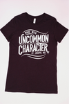T-Shirt - Women's Black Heather, round neck