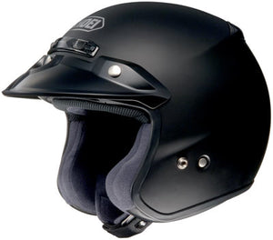 Shoei RJ Platinum R Matte Black Open Face Helmet