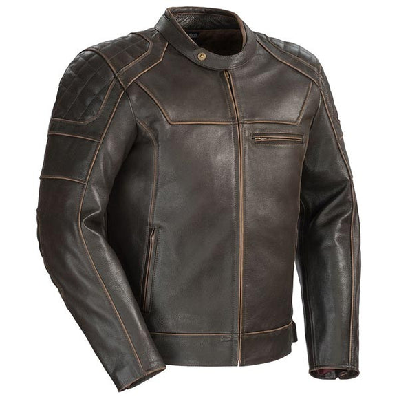 Cortech 'Dino' Men's Brown Leather Jacket