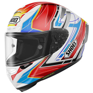 Shoei X-Fourteen Assail Red/Blue/Yellow Full Face Helmet