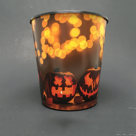 Premium IML Decorated Patio Pot - Jack O Lantern