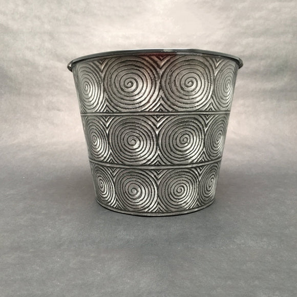Drop-In or Grow-In IML Pot - Metal Swirls