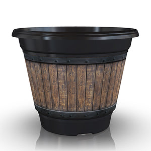 Premium IML Decorated Patio Pot - Barrel (NEW 2018)