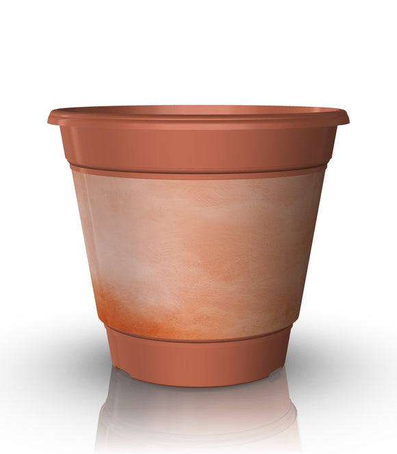 Distressed Terra Cotta 3 Gallon Grow Pot