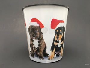3.0 Quart Drop-In or Grow-In IML Pot - Christmas Dogs