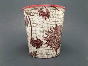 Grow or Drop-In Flower Pot Red Raku