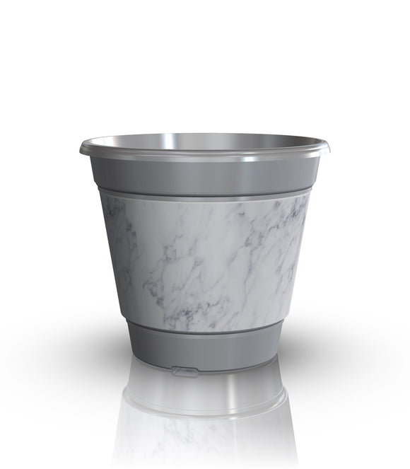 Premium IML Decorated Patio Pot - Grey Marble (NEW 2018)