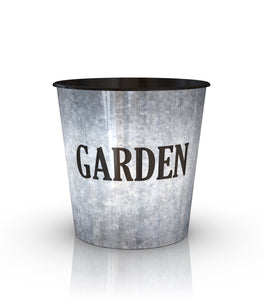 Lightweight Metal Look Garden Printed Drop In Pot