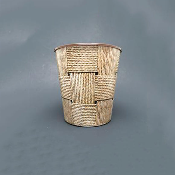 Drop-In or Grow-In IML Pot - Woven Twine