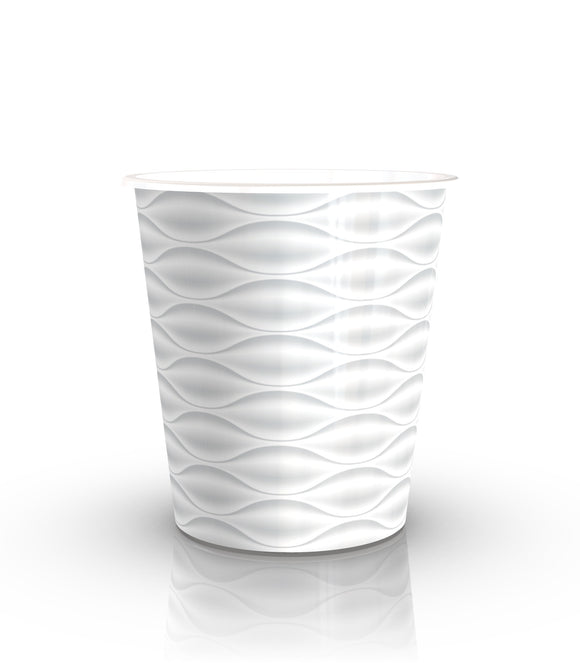 White Ceramic looking Lightweight Plastic Pot